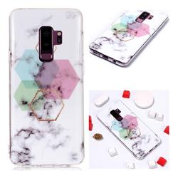 Hexagonal Soft TPU Marble Pattern Phone Case for Samsung Galaxy S9 Plus(S9+)