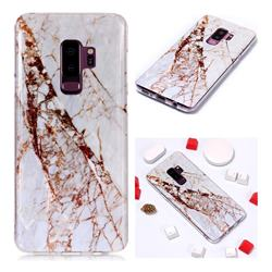 White Crushed Soft TPU Marble Pattern Phone Case for Samsung Galaxy S9 Plus(S9+)