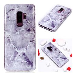 Light Gray Soft TPU Marble Pattern Phone Case for Samsung Galaxy S9 Plus(S9+)