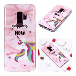 Unicorn Soft TPU Marble Pattern Phone Case for Samsung Galaxy S9 Plus(S9+)