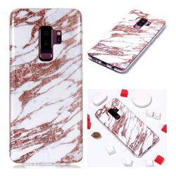 Rose Gold Grain Soft TPU Marble Pattern Phone Case for Samsung Galaxy S9 Plus(S9+)