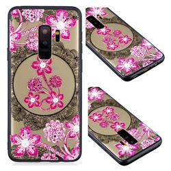 Daffodil Lace Diamond Flower Soft TPU Back Cover for Samsung Galaxy S9 Plus(S9+)