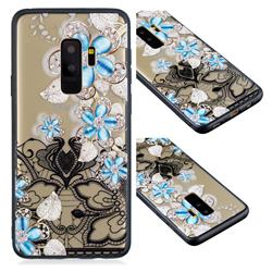 Lilac Lace Diamond Flower Soft TPU Back Cover for Samsung Galaxy S9 Plus(S9+)