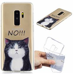 Cat Say No Clear Varnish Soft Phone Back Cover for Samsung Galaxy S9 Plus(S9+)