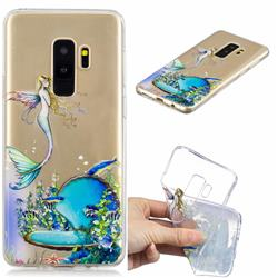 Mermaid Clear Varnish Soft Phone Back Cover for Samsung Galaxy S9 Plus(S9+)