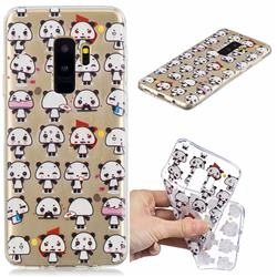 Mini Panda Clear Varnish Soft Phone Back Cover for Samsung Galaxy S9 Plus(S9+)