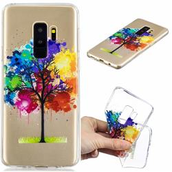 Oil Painting Tree Clear Varnish Soft Phone Back Cover for Samsung Galaxy S9 Plus(S9+)