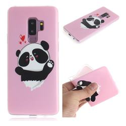 Heart Cat IMD Soft TPU Cell Phone Back Cover for Samsung Galaxy S9 Plus(S9+)