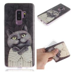 Cat Embrace IMD Soft TPU Cell Phone Back Cover for Samsung Galaxy S9 Plus(S9+)