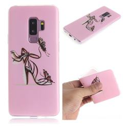 Butterfly High Heels IMD Soft TPU Cell Phone Back Cover for Samsung Galaxy S9 Plus(S9+)