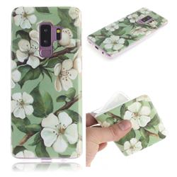 Watercolor Flower IMD Soft TPU Cell Phone Back Cover for Samsung Galaxy S9 Plus(S9+)