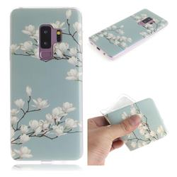 Magnolia Flower IMD Soft TPU Cell Phone Back Cover for Samsung Galaxy S9 Plus(S9+)