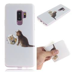 Cat and Tiger IMD Soft TPU Cell Phone Back Cover for Samsung Galaxy S9 Plus(S9+)