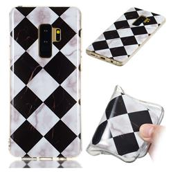 Black and White Matching Soft TPU Marble Pattern Phone Case for Samsung Galaxy S9 Plus(S9+)