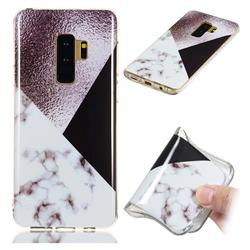 Black white Grey Soft TPU Marble Pattern Phone Case for Samsung Galaxy S9 Plus(S9+)