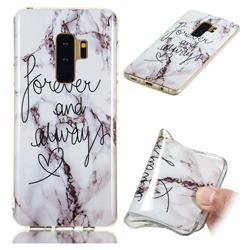 Forever Soft TPU Marble Pattern Phone Case for Samsung Galaxy S9 Plus(S9+)