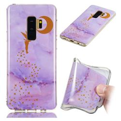 Elf Purple Soft TPU Marble Pattern Phone Case for Samsung Galaxy S9 Plus(S9+)