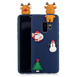 Navy Elk Christmas Xmax Soft 3D Silicone Case for Samsung Galaxy S9 Plus(S9+)