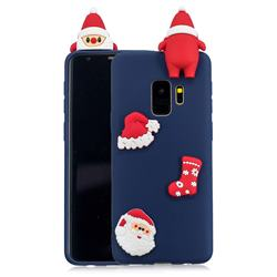 Navy Santa Claus Christmas Xmax Soft 3D Silicone Case for Samsung Galaxy S9 Plus(S9+)