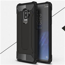 King Kong Armor Premium Shockproof Dual Layer Rugged Hard Cover for Samsung Galaxy S9 Plus(S9+) - Black Gold