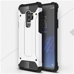 King Kong Armor Premium Shockproof Dual Layer Rugged Hard Cover for Samsung Galaxy S9 Plus(S9+) - White