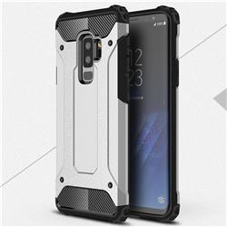 King Kong Armor Premium Shockproof Dual Layer Rugged Hard Cover for Samsung Galaxy S9 Plus(S9+) - Technology Silver