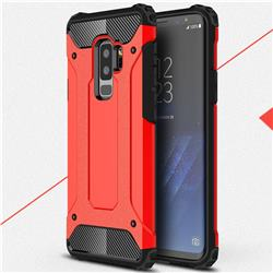 King Kong Armor Premium Shockproof Dual Layer Rugged Hard Cover for Samsung Galaxy S9 Plus(S9+) - Big Red
