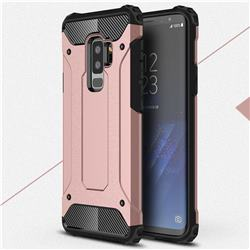 King Kong Armor Premium Shockproof Dual Layer Rugged Hard Cover for Samsung Galaxy S9 Plus(S9+) - Rose Gold
