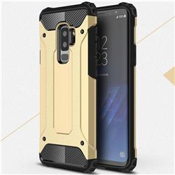 King Kong Armor Premium Shockproof Dual Layer Rugged Hard Cover for Samsung Galaxy S9 Plus(S9+) - Champagne Gold