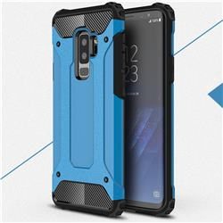 King Kong Armor Premium Shockproof Dual Layer Rugged Hard Cover for Samsung Galaxy S9 Plus(S9+) - Sky Blue