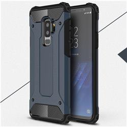 King Kong Armor Premium Shockproof Dual Layer Rugged Hard Cover for Samsung Galaxy S9 Plus(S9+) - Navy