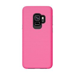 Triangle Texture Shockproof Hybrid Rugged Armor Defender Phone Case for Samsung Galaxy S9 Plus(S9+) - Rose