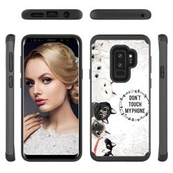 Cute Kittens Shock Absorbing Hybrid Defender Rugged Phone Case Cover for Samsung Galaxy S9 Plus(S9+)