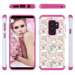 Pink Pony Shock Absorbing Hybrid Defender Rugged Phone Case Cover for Samsung Galaxy S9 Plus(S9+)