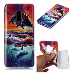 Flying Dolphin Soft TPU Cell Phone Back Cover for Samsung Galaxy S9 Plus(S9+)