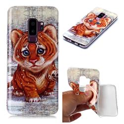 Cute Tiger Baby Soft TPU Cell Phone Back Cover for Samsung Galaxy S9 Plus(S9+)