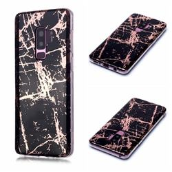 Black Galvanized Rose Gold Marble Phone Back Cover for Samsung Galaxy S9 Plus(S9+)