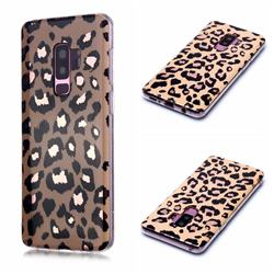 Leopard Galvanized Rose Gold Marble Phone Back Cover for Samsung Galaxy S9 Plus(S9+)