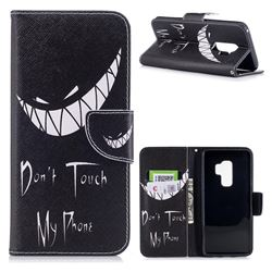Crooked Grin Leather Wallet Case for Samsung Galaxy S9 Plus(S9+)