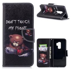 Chainsaw Bear Leather Wallet Case for Samsung Galaxy S9 Plus(S9+)