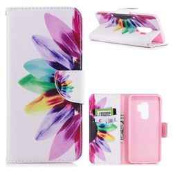 Seven-color Flowers Leather Wallet Case for Samsung Galaxy S9 Plus(S9+)