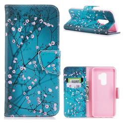 Blue Plum Leather Wallet Case for Samsung Galaxy S9 Plus(S9+)