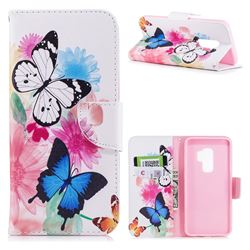 Vivid Flying Butterflies Leather Wallet Case for Samsung Galaxy S9 Plus(S9+)