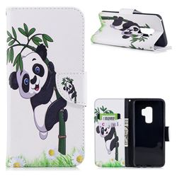 Bamboo Panda Leather Wallet Case for Samsung Galaxy S9 Plus(S9+)