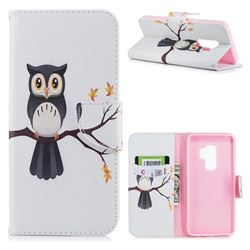 Owl on Tree Leather Wallet Case for Samsung Galaxy S9 Plus(S9+)
