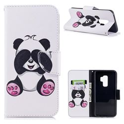 Lovely Panda Leather Wallet Case for Samsung Galaxy S9 Plus(S9+)