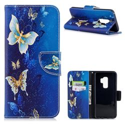 Golden Butterflies Leather Wallet Case for Samsung Galaxy S9 Plus(S9+)