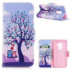 Tree and Owls Leather Wallet Case for Samsung Galaxy S9 Plus(S9+)
