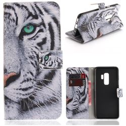 White Tiger PU Leather Wallet Case for Samsung Galaxy S9 Plus(S9+)
