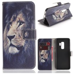 Lion Face PU Leather Wallet Case for Samsung Galaxy S9 Plus(S9+)